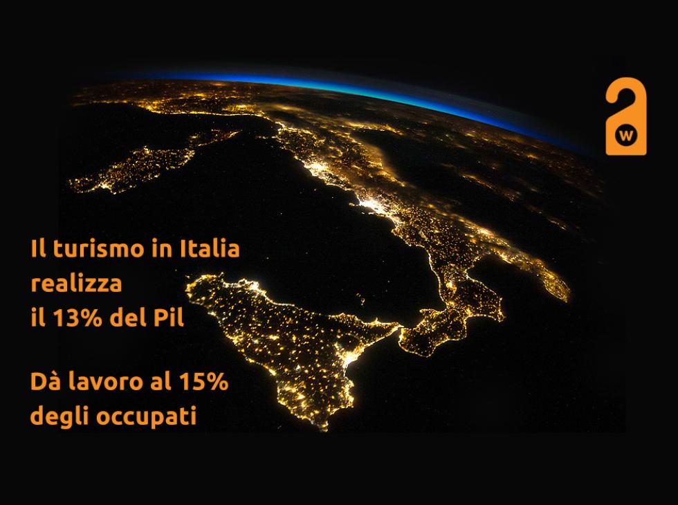 Il turismo in Italia realizza il 13% del Pil