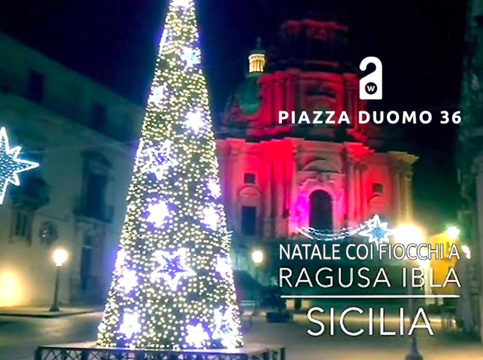Natale coi fiocchi a Piazza Duomo 36 Ibla